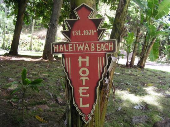 HALEIWA BEACH VINTAGE HAWAIIAN SIGN