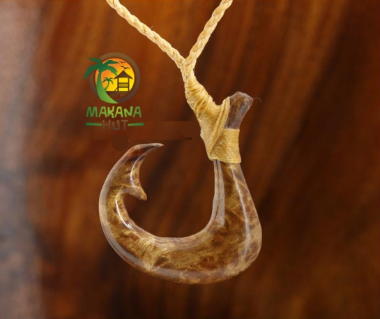 "Koa Wood Fancy Makau (Fish Hook) 28"""