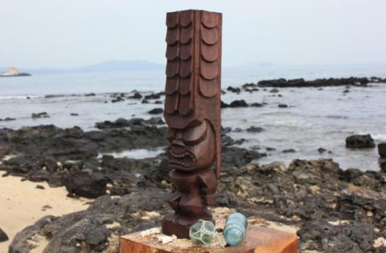 """Kane Tiki 20"""" - Museum Replica Stained"""