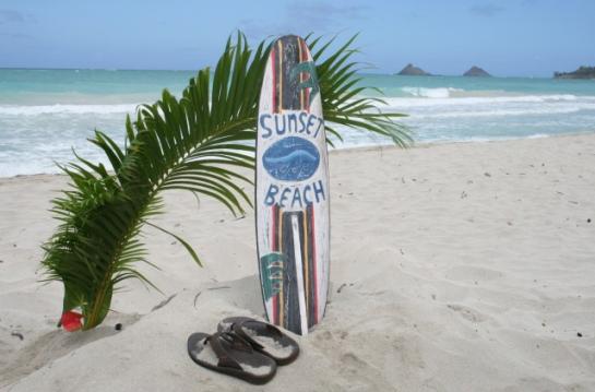 """Sunset Beach Surf Sign 40"""""""