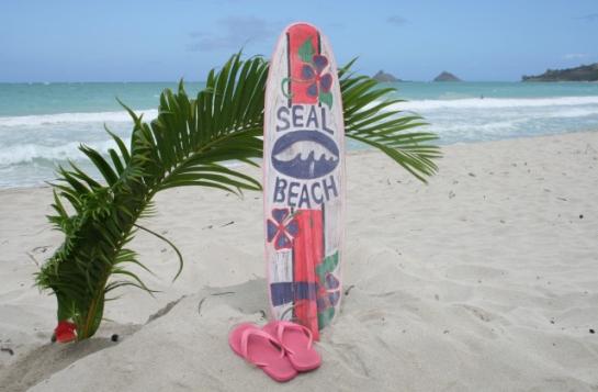 """Seal Beach Surf Sign 40"""""""
