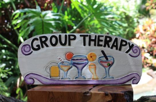 Group Therapy - Tiki Bar Decor