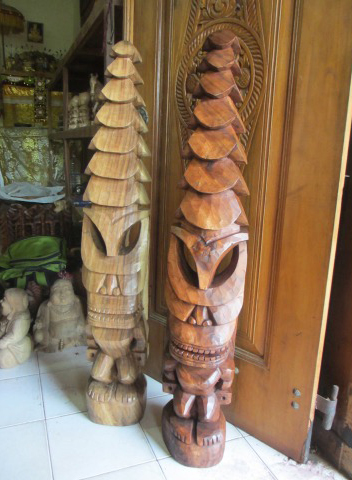 "Tiki God Temple 48"" (Natural and Stained)"